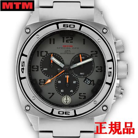 【2日20時~エントリーでポイント最大39倍!9日1時59分まで!】 MTM エムティーエム Predator II Silver Tit Grey Dial Black Sub Dial Black Number メンズ腕時計 クォーツ 送料無料 PR2-TSL-GBB1-MBTI-OH