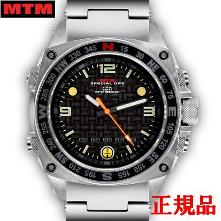 【2日20時~エントリーでポイント最大39倍!9日1時59分まで!】 MTM エムティーエム Silencer Silver メンズ腕時計 クォーツ 送料無料 SIL-SSL-BLCK-MBSS