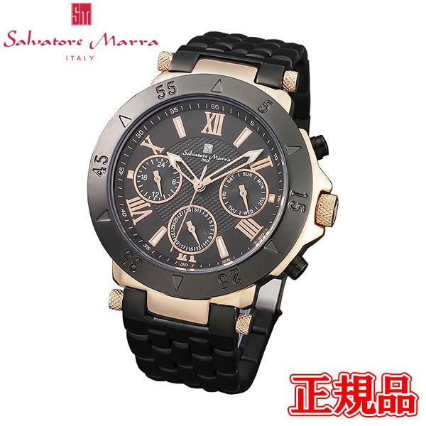 半額 送料無料 Salvatore Marra サルバトーレマーラ クォーツ 流行 正規品 エントリーでポイント最大39倍 時間指定不可 SM14118-PGBK メンズ腕時計 24日1時59分まで 専用箱 時計 腕時計