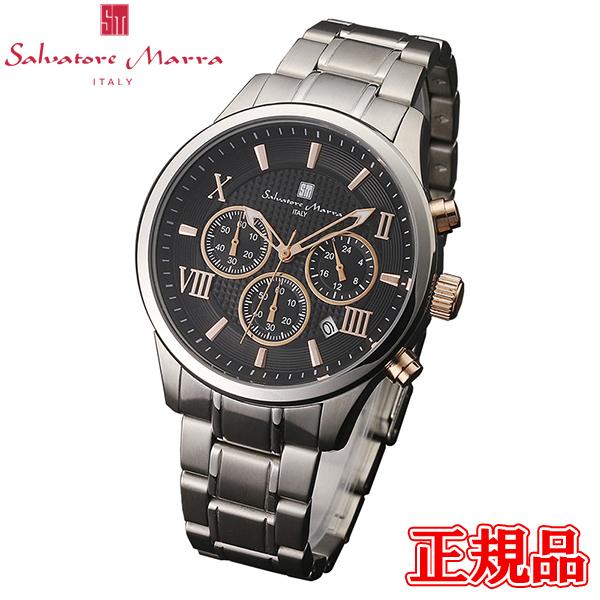 【2日20時~エントリーでポイント最大39倍!9日1時59分まで!】 Salvatore Marra サルバトーレマーラ クオーツ メンズ腕時計 クロノグラフ 送料無料 SM15102-SSBKPG