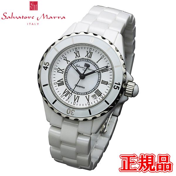 【2日20時~エントリーでポイント最大39倍!9日1時59分まで!】 Salvatore Marra サルバトーレマーラ クォーツ メンズ腕時計 送料無料 SM15120-WHR