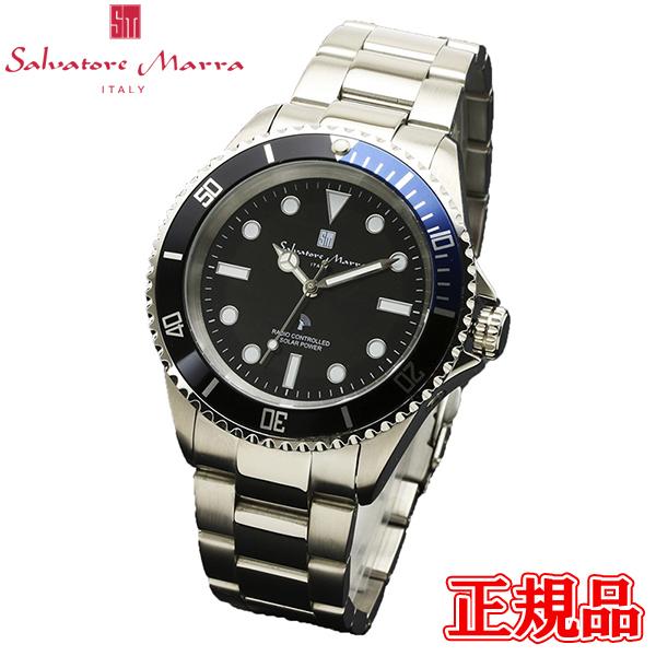 Salvatore Marra サルバトーレマーラ 電波ソーラー メンズ腕時計 送料無料 SM16103-SSBKBL