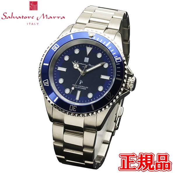 Salvatore Marra サルバトーレマーラ 電波ソーラー メンズ腕時計 送料無料 SM16103-SSBL