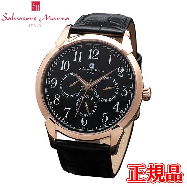Salvatore Marra サルバトーレマーラ クォーツ メンズ腕時計 送料無料 SM18107-PGBK