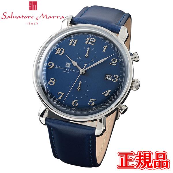 Salvatore Marra サルバトーレマーラ クオーツ メンズ腕時計 クロノグラフ 送料無料 SM18109-SSBL