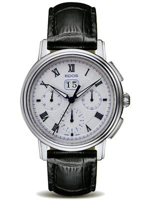 EPOS emotion men's automatic big date chronograph 3395 RWH fs3gm