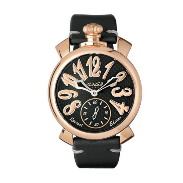 【24回払いまで無金利】 国内正規品 GAGA MILANO ガガミラノ MANUALE 48MM SPECIAL EDITION 手巻き メンズ腕時計 送料無料 5011.sp.01