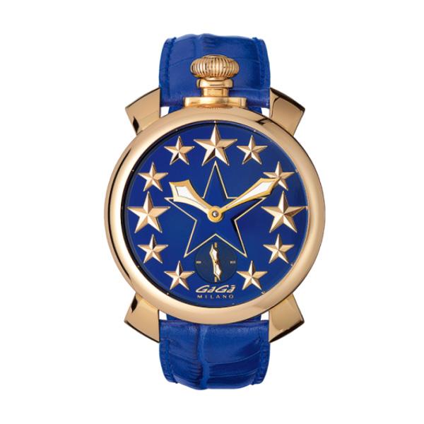 【4日20時~エントリーでポイント最大39倍!11日1時59分まで!】 【24回払いまで無金利】 国内正規品 GAGA MILANO ガガミラノ MANUALE 48MM STARS 手巻き メンズ腕時計 送料無料 5011.stars.02