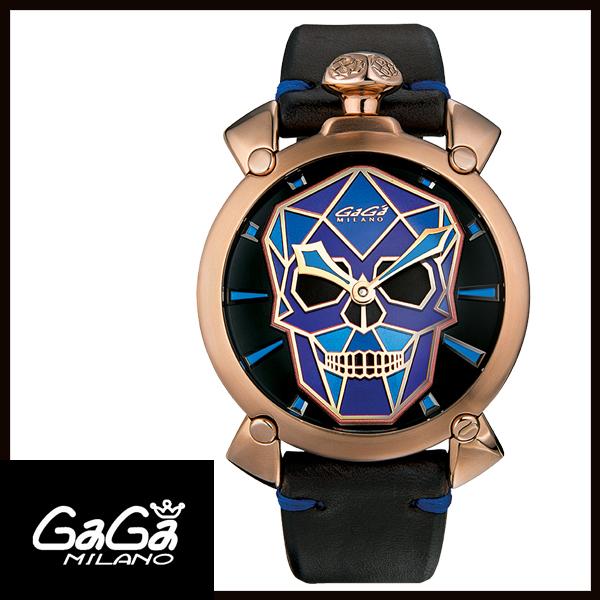 b9e58f466c 【送料無料】500本限定GAGAMILANOガガミラノMANUALE48MMマニュアーレ48mmBIONICSKULLメンズ腕時計5061.01S
