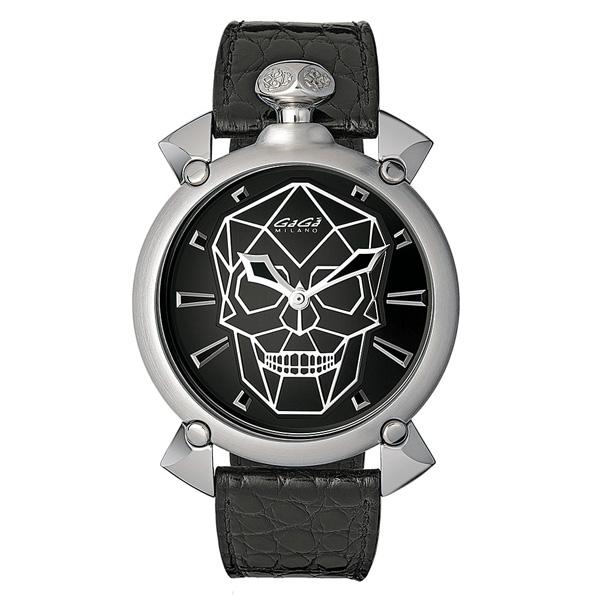 【24回払いまで無金利】 国内正規品 GAGA MILANO ガガミラノ BIONIC SKULL AUTOMATIC メンズ腕時計 送料無料 6010.01s