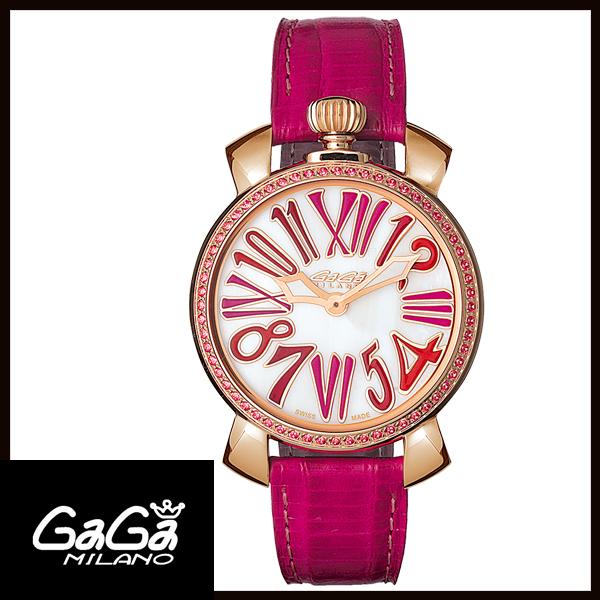 【24回払いまで無金利】 【送料無料】 国内正規品 GAGA MILANO ガガミラノ MANUALE 35MM STONES GOLD PLATED レディース腕時計 6026.04【新品】