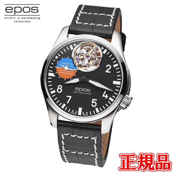 送料無料 epos エポス 在庫一掃売り切りセール 正規品 時計 腕時計 専用箱 3434OHABK 11日1時59分まで メンズ腕時計 日本 SPORTIVE 手巻 バレンタイン ラッピング無料 4日20時~エントリーでポイント最大39倍