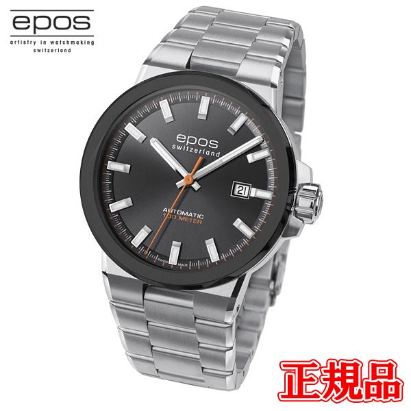 高級 高品質 送料無料 epos エポス 正規品 時計 腕時計 専用箱 3442BSGYM 4日20時~エントリーでポイント最大39倍 メンズ腕時計 自動巻 バレンタイン SPORTIVE ラッピング無料 11日1時59分まで