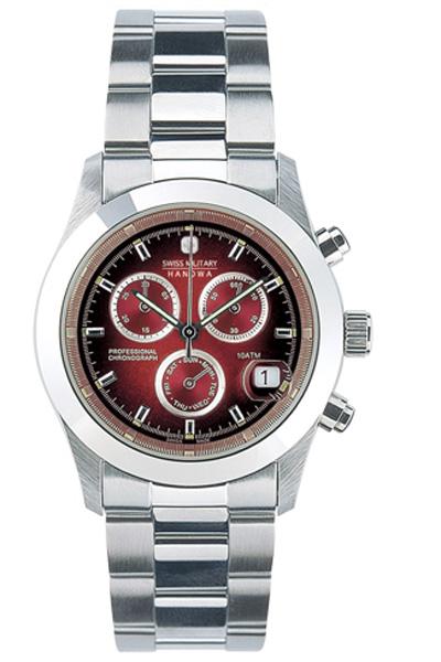 【2日20時~エントリーでポイント最大39倍!9日1時59分まで!】 【送料無料】スイスミリタリー ELEGANT BIG CHRONO メンズ腕時計 ML 185 【新品】