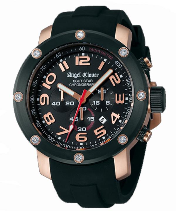 【2日20時~エントリーでポイント最大39倍!9日1時59分まで!】 【送料無料】 Angel Clover [ エンジェルクローバー ] メンズ腕時計 エイトスター NES46PBK-BK【新品】