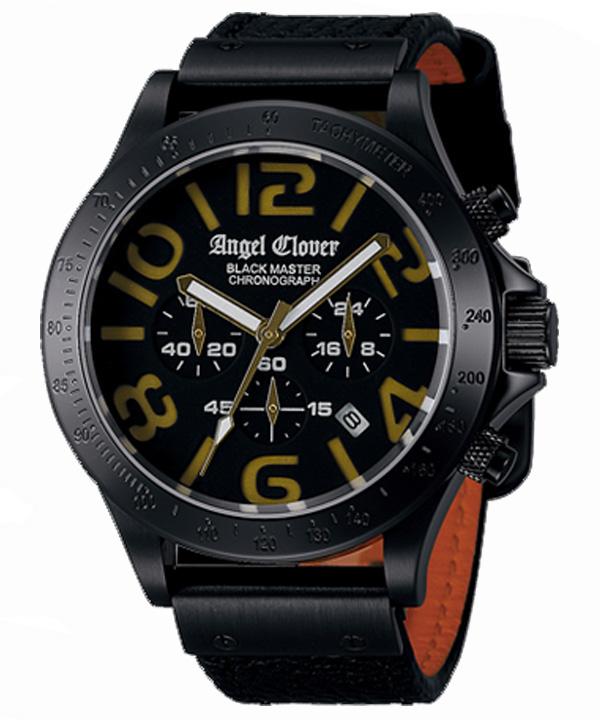 【送料無料】 Angel Clover [ エンジェルクローバー ] メンズ腕時計 ブラックマスターミリタリー BM46BGD-BK【新品】