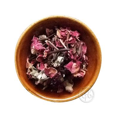 初回限定 ネコポス可 天然ハーブのフレーバーほうじ茶で健康に お試しに最適な30g リーフ30g ローズが香るほうじ茶 低価格化 約15杯分