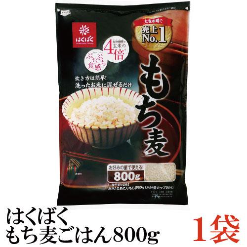 はくばく もち麦ごはん 大麦 食物繊維 新発売 ご飯 800g お弁当 おにぎり 正規品 ×1袋