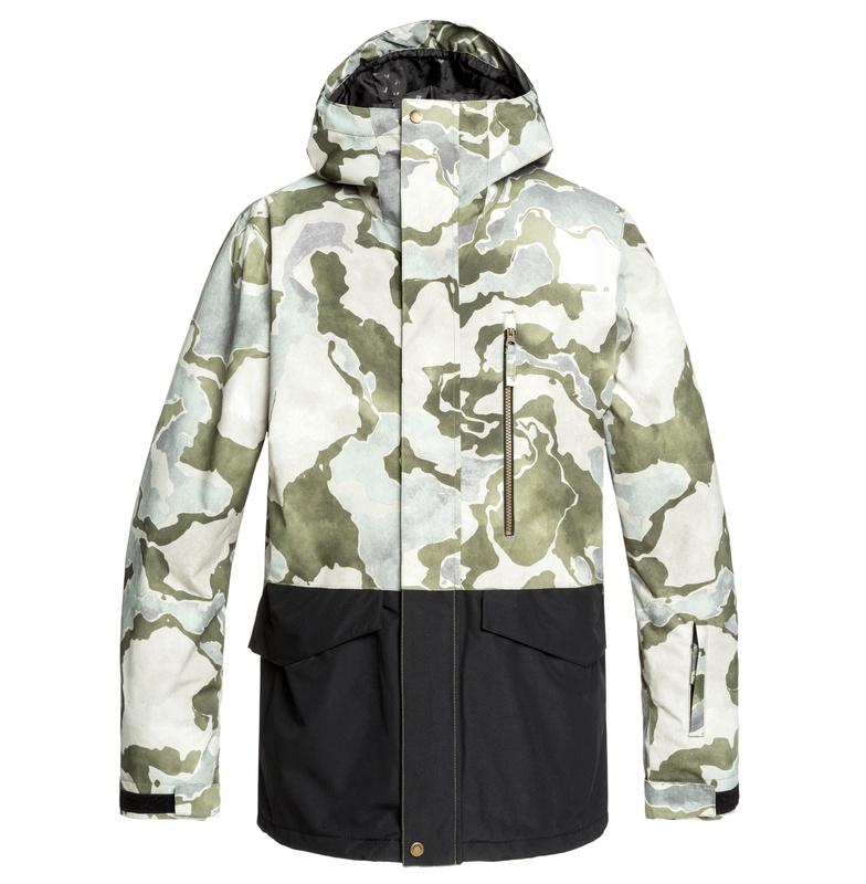 セール SALE Quiksilver クイックシルバー 10K MISSION PRINTED BLOCK JK NP modern fit スキー スノボー ジャケット アウター ウェア ウィンタースポーツ