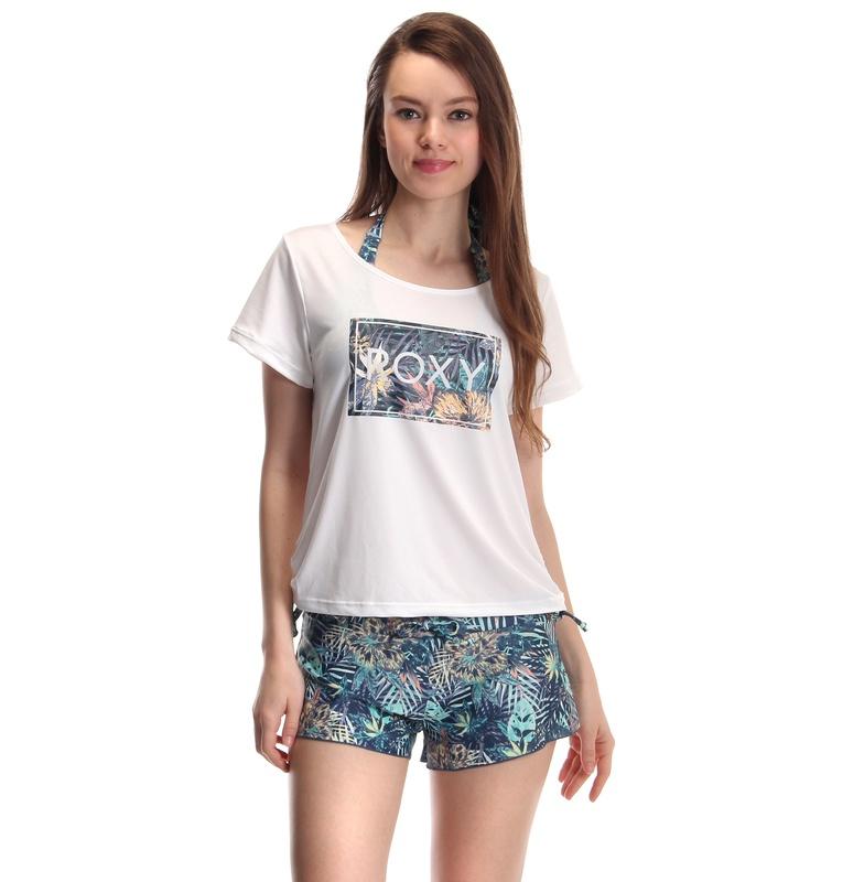 【ROXY ロキシー】ラッシュTシャツ×ボタニカル柄ビキニ 3ピースセット 【RSW171216 NVY】