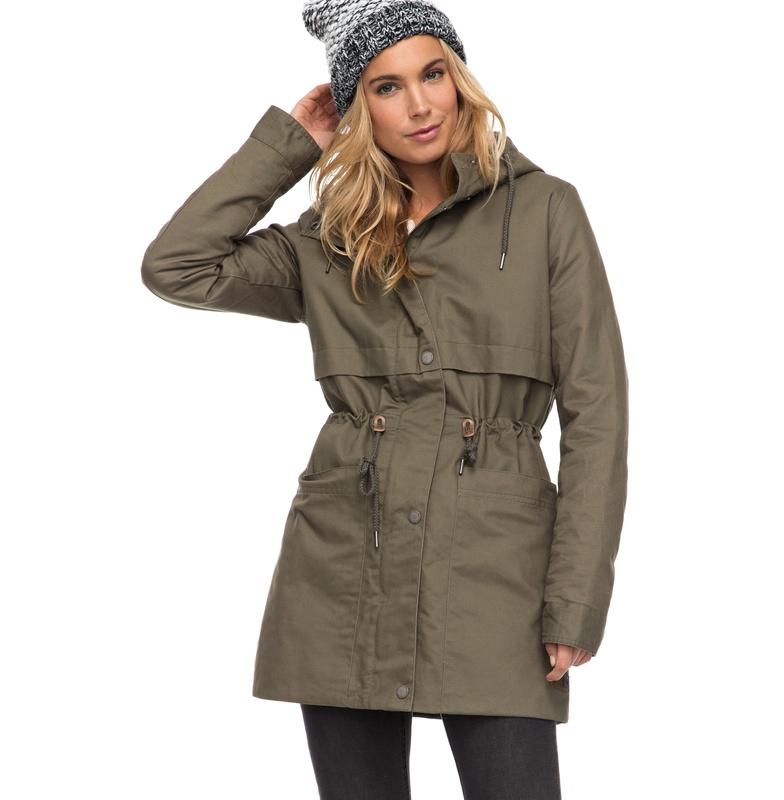 アウトレット価格 ROXY ロキシー 撥水加工 コットンツイル中綿コート アウター ヘビージャケット 冬物 上着 防寒