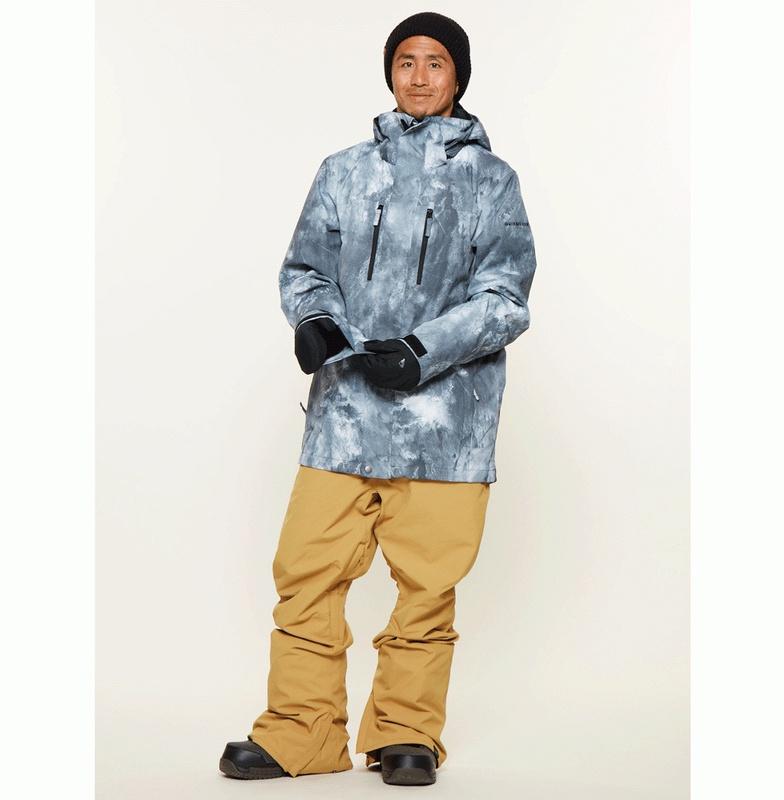 クイックシルバー (QUIKSILVER) 10K スノボ/ スキー ジャケット(モダンフィット)MISSION PRINTED NP JACKET【EQYTJ03150 WBK7】