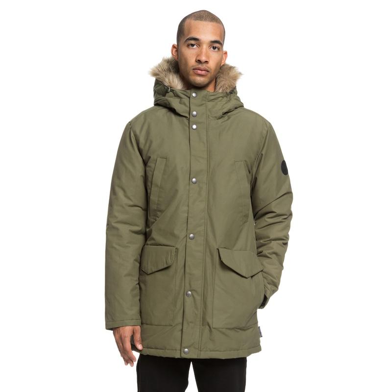 セール SALE DC ディーシー シューズ メンズ 撥水 フーデッドジャケット アウター ヘビージャケット 冬物 上着 防寒