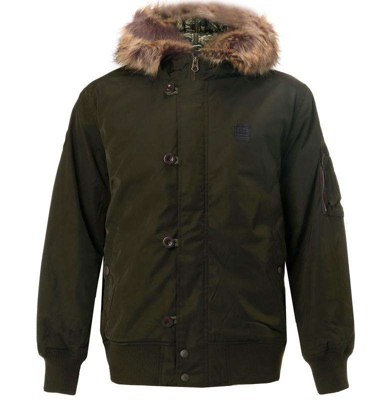 アウトレット価格 DC ディーシー シューズ メンズ バッグロゴ 中綿 ジャケット アウター ヘビージャケット 冬物 上着 防寒