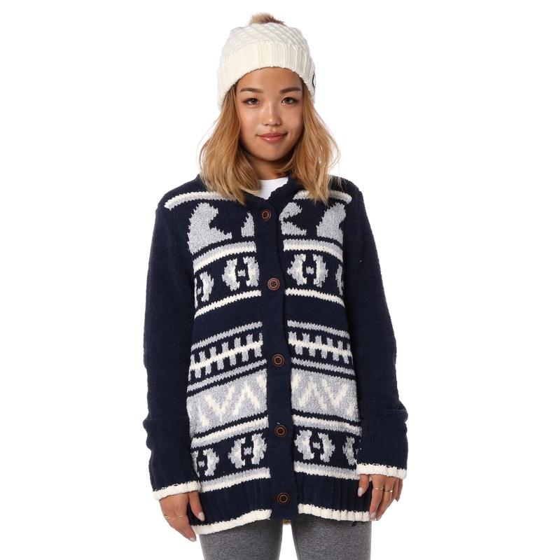 ロキシー ROXY  POLAR Design Fleece 【RCD184015 NVY】