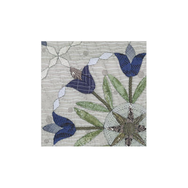 藍色鬱金香的花毯