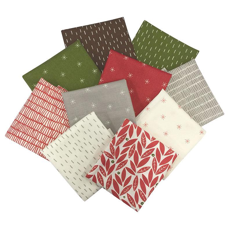 10 Christmas US Fabric Set  (with Free instruction )    Christmas US print fabric