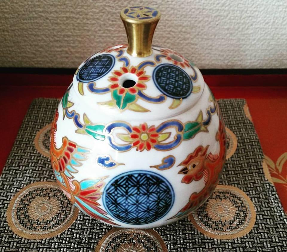 鳳凰の香炉 贅沢で優美 ほっと安らぐ一時に 清水焼 ギフト 贈り物 お祝い 新築祝い 記念品 の贈答に 京焼 清水焼 日本 伝統