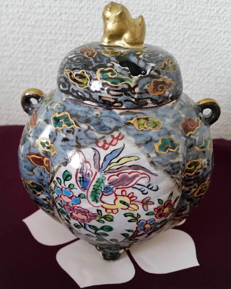 鳳凰の香炉 端雲 贅沢で優美 ほっと安らぐ一時に 清水焼 ギフト 贈り物 お祝い 新築祝い 記念品 の贈答に 京焼 清水焼 日本 伝統