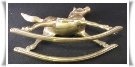 Oriental figurines rocking horse ♪ morocco vintage metal filigree crafts horse