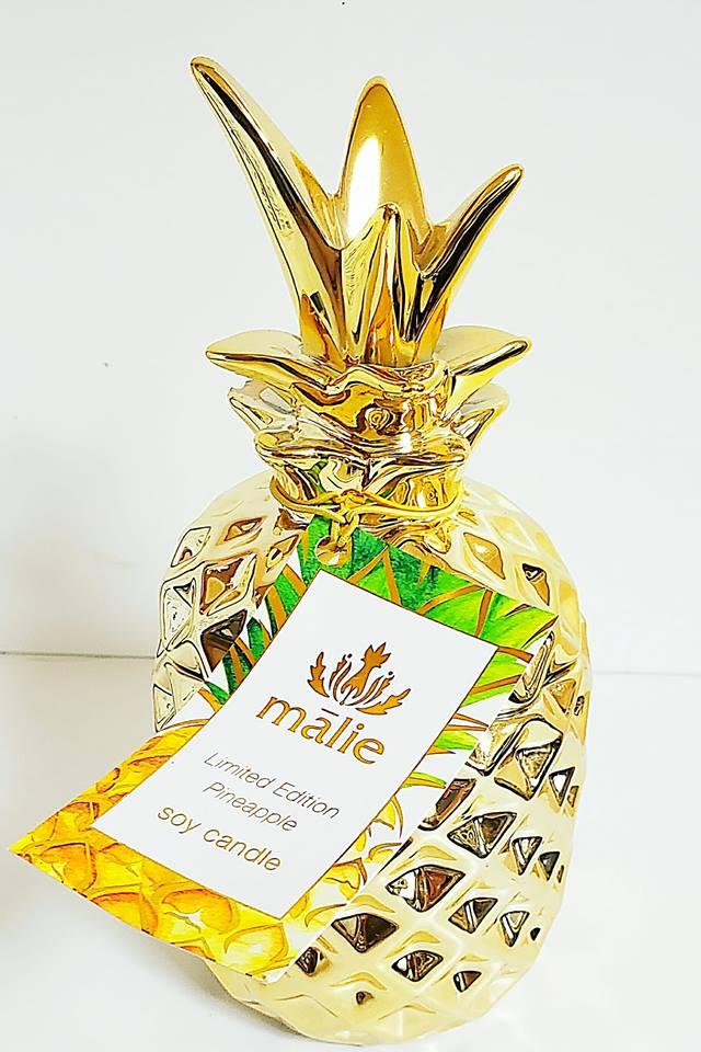 ルームフレグランス 送別会 お礼 ギフト 母の日 お中元 バースデイ お誕生日 マリエオーガニクス パイナップル ソイキャンドル パイナップル Malie Organics 代引き不可