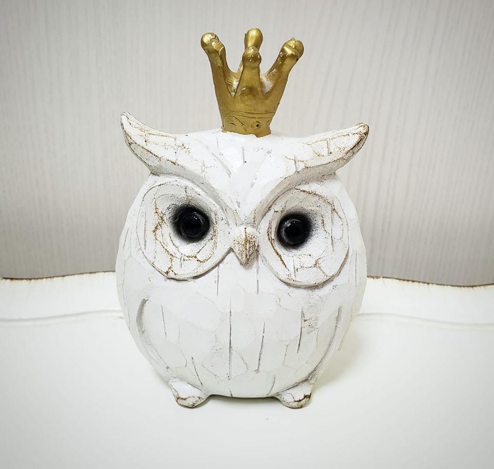 キュートな瞳 安心の定価販売 かわいい 白 幸福を呼ぶ 風水 お気に入り フクロウ