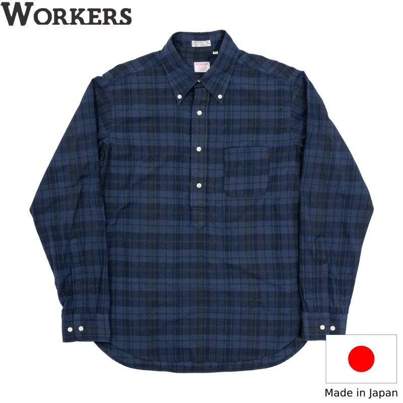 WORKERS 超定番 2021 Spring Summer の Pullover BD です ワーカーズ Dark Madrasメンズ アメトラ プルオーバーボタンダウンシャツ 安売り アメカジ 日本製