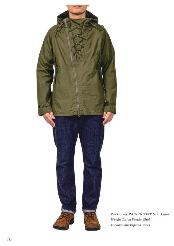 WORKERS ワーカーズ Parkaref RAIN OUTFIT N 2 USN レインパーカー Light Weight Cotton VentileKhakiメンズ アメカジ アメトラ 日本製PZkuiTOX