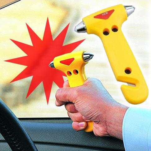 防災グッズ 安全ハンマー シートベルトカッター 付き 緊急ライフハンマー 災害対策 常備品  脱出用ハンマー 車 窓ガラス 割る シートベルトカッター 付き