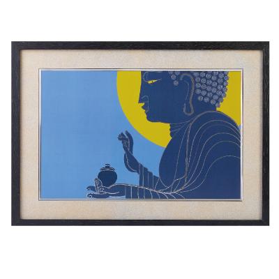 イスム HAKUジクレ pop'n Buddha 薬師如来 ジグレー版画 アクリルカバー
