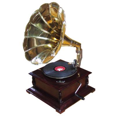 蓄音機 グラモホーン Gramophone ゼンマイ式蓄音機 SPレコード専用 ビンテージな蓄音機
