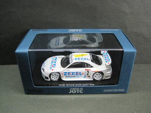 1/43 エブロ EBBRO ZEXEL SKYLINE JGTC 1998 #2 LDF ゼクセル スカイライン ローダウンフォース ミニカー