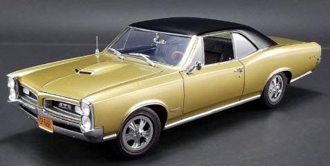 1/18 ACME 1966 Tiger Gold GTO ポンティアック ミニカー アメ車