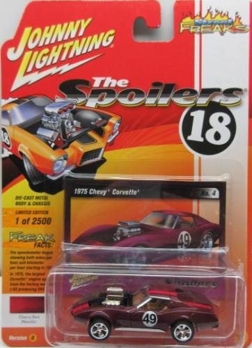 シボレー 開催中 コルベット 1 64 ミニカー アメ車 ジョニーライトニング JOHNNY Corvette 送料無料 激安 お買い得 キ゛フト Chevy 2018 FREAKS LIGHTNING Street 1975