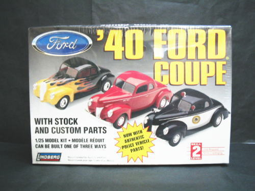 1/25scale リンドバーグ LINDBERG '40 FORD COUPE フォード クーペ プラスチック モデルキット