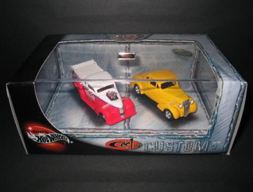 クールカスタム 1 64 アメ車 ホットホイール HOT WHEELS ミニカー 2台セット 有名な 安心の定価販売 COOL 2 CUSTOM