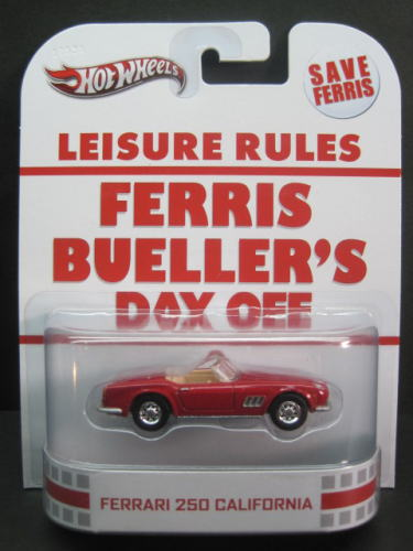 1/64scale hottouiru Hot Wheels Retro Entertaiment Ferris Bueller's Day Off Ferrari 250法拉利加利福尼亚