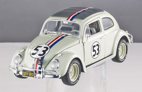1/43 ホットウィール Hot Wheels 1963 VW Beetle HERBIE Goes to Monte Carlo ハービー モンテカルロ大爆走 フォルクスワーゲン ビートル ミニカー
