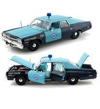 1/18 auto world 1974 Dodge Monaco Massachusetts State Police ダッジ モナコ マサチューセッツ州 警察パトカー ミニカー アメ車