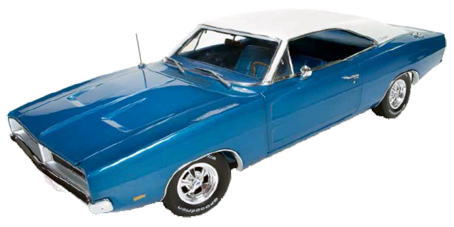 1/18 auto world アーテル ertl 1969 Dodge Charger white hat special ダッジ チャージャー ミニカー アメ車